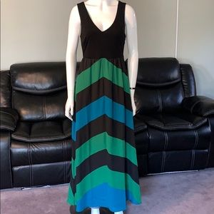 I.N.C Maxi dress Black Blue Green
